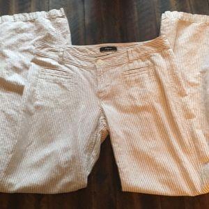 Express Linen/Cotton blend Striped pants